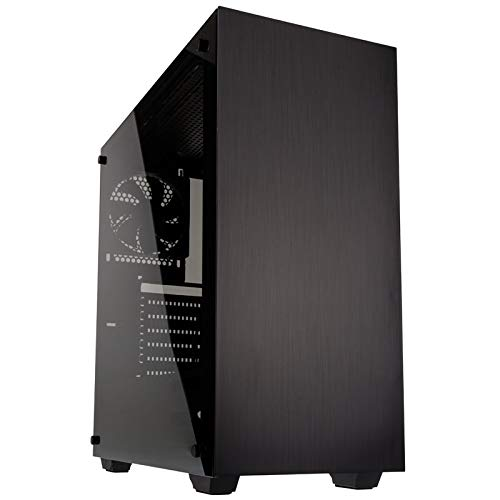 KOLINK Stronghold Midi-Tower - PC-Gehäuse - Tempered Glass Seitenfenster - ATX - schwarz