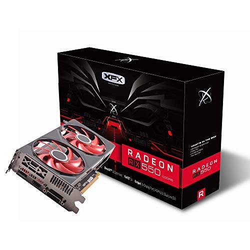 XFX Radeon RX 550 4GB DDR5 Double Dissipation Grafikkarte RX-550P4PFG5