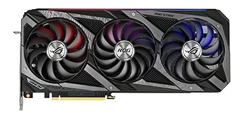 ASUS ROG Strix GeForce RTX 3070 TI 8GB OC Edition Gaming Grafikkarte (GDDR6 Speicher, PCIe 4.0, 2x HDMI 2.1, 3x DisplayPort 1.4a, 1x USB-C mit DisplayPort 1.4a, ROG-STRIX-RTX3070TI-O8G-GAMING