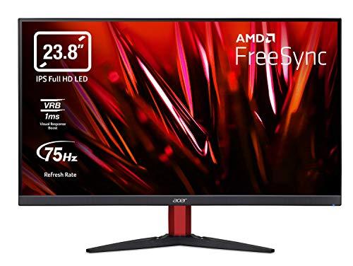 Acer Nitro KG242Y Gaming Monitor 23,8 Zoll (60 cm Bildschirm) Full HD, 75Hz, 1ms (VRB), 2xHDMI 1.4, VGA, HDMI FreeSync