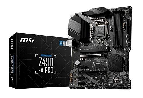 MSI Z490-A PRO ATX-Mainboard (10. Generation Intel Core, LGA 1200-Sockel, DDR4, zwei M.2-Steckplätze, USB 3.2 Gen 2, 2.5G LAN, DP/HDMI), 7C75-003R