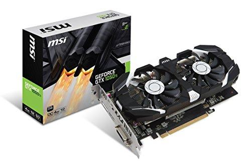 MSI GeForce GTX 1050TI 4GT OC 4GB Nvidia GDDR5 1x HDMI, 1x DP, 1x DL-DVI-D, 2 Slot Afterburner OC, Nvidia G-Sync, Grafikkarte