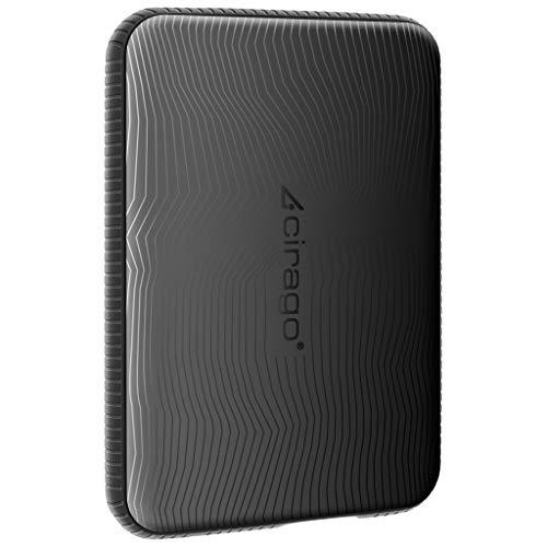 Cirago 250GB Externe Festplatte tragbare Anti-Schock, 2,5 Zoll USB 3.0 Backups HDD Tragbarefür für PC, Mac, TV - Schwarze
