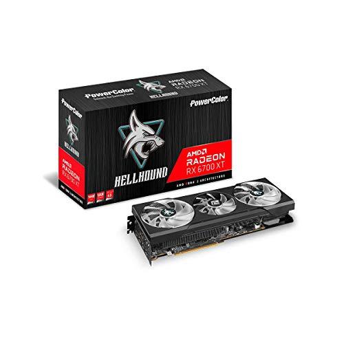 PowerColor Hellhound AMD Radeon RX 6700 XT Gaming Grafikkarte mit 12 GB GDDR6 Speicher, angetrieben von AMD RDNA 2, Raytracing, PCI Express 4.0, HDMI 2.1, AMD Infinity Cache