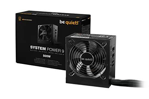 be quiet! System Power 9 ATX PC Netzteil 500W cm   BN301 schwarz mit Kabelmanagement