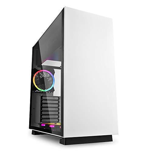 Sharkoon Pure Steel weiß, PC Gehäuse, RGB