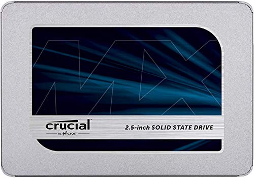 Crucial MX500 500GB CT500MX500SSD1(Z)-bis zu 560 MB/s (3D NAND, SATA, 2,5 Zoll, Internes SSD)