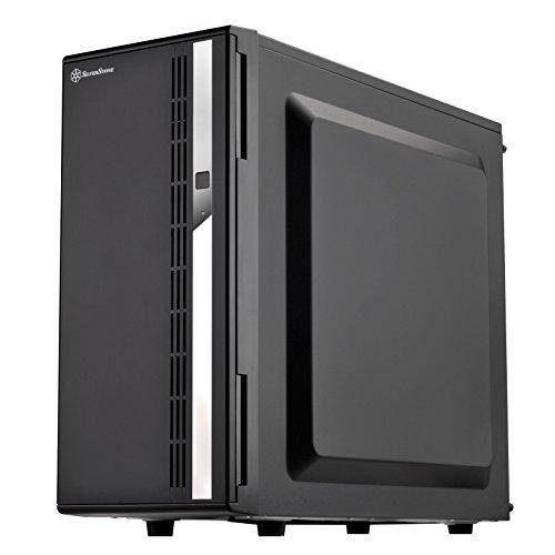 SilverStone SST-CS380 V2 - Case Storage ATX Midi Tower Gehäuse, unterstützt 8x 3.5' oder 2.5' Hot-Swap Festplatten-Einschübe, abschliessbare Front-Tür, innen + außen schwarz lackiert