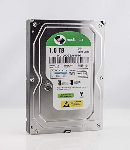 Mediamax 3.5' (8,9 cm) interne Festplatte 1TB HDD, SATA III, 6.0 Gb/s Cache 64MB, RPM: 5400 (U/min), 1000GB, WL1000GSA6454G, SATA Festplatte intern, Backup Festplatte für Desktop PCs, Gaming Computer