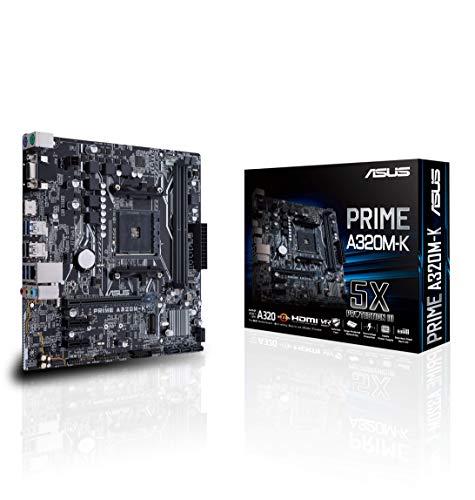 Asus PRIME A320M-K Mainboard Sockel AM4 (uATX, AMD A320, Ryzen, 2x DDR4 Speicher, USB 3.0, M.2 Schnittstelle)