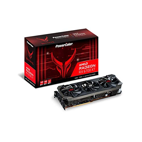 PowerColor Red Devil AMD Radeon RX 6700 XT Gaming Grafikkarte mit 12 GB GDDR6 Speicher, angetrieben von AMD RDNA 2, Raytracing, PCI Express 4.0, HDMI 2.1, AMD Infinity Cache