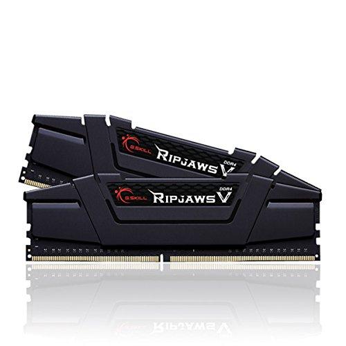 Gskill F4-3200C16D-16GVKB Memory D4 3200 16GB C16 RipV K2 2X 8GB, 1,35V, RipjawsV schwarz