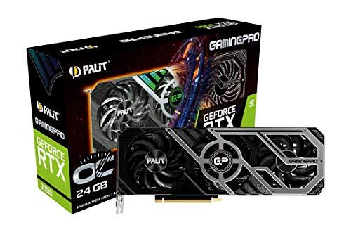 Palit GeForce RTX 3090 GamingPro OC 24GB GDDR6X Ray-Tracing Grafikkarte, 10496 Core, 1395MHz GPU, 1725MHz Boost, 3X DisplayPort, HDMI, Advanced TurboFan 3.0
