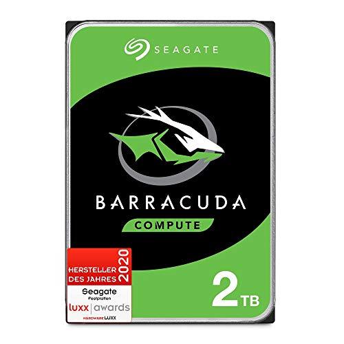Seagate Barracuda, interne Festplatte 2 TB HDD, 3,5 Zoll, 7200 U/Min, 256 MB Cache, SATA 6 GB/s, silber, FFP, Modellnr.: ST2000DMZ08, (Verpackung kann variieren)