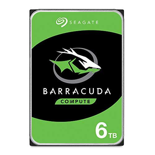 Seagate BarraCuda 6 TB HDD interne Festplatte (8,9 cm (3,5 Zoll), 5400 U/Min, 256 MB Cache, SATA 6 Gb/s, silber) Modellnr.: ST6000DMZ03, FFP