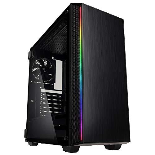 KOLINK Ethereal RGB Midi-Tower - PC-Gehäuse - Tempered Glass Seitenfenster - schwarz