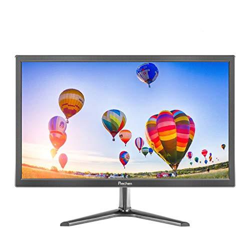 19 Zoll PC Monitor, Prechen Monitor 1440 * 900 mit HDMI- und VGA-Schnittstellen, 60 Hz, Helligkeit 250 cd/m², 5 ms Reaktionszeit, Eingebaute Lautsprecher PC Bildschirm, Schwarz