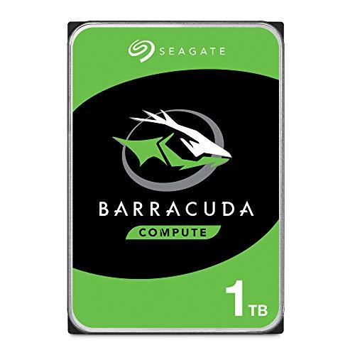 Seagate BarraCuda 1 TB HDD interne Festplatte (8, 9 cm (3, 5 Zoll), 7200 U/Min, 64 MB Cache, SATA 6 Gb/s, silber) Modellnr.: ST1000DM010