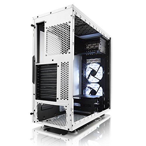 Fractal Design Focus G White Window, PC Gehäuse (Midi Tower mit seitlichem Fenster) Case Modding für (High End) Gaming PC, weiß
