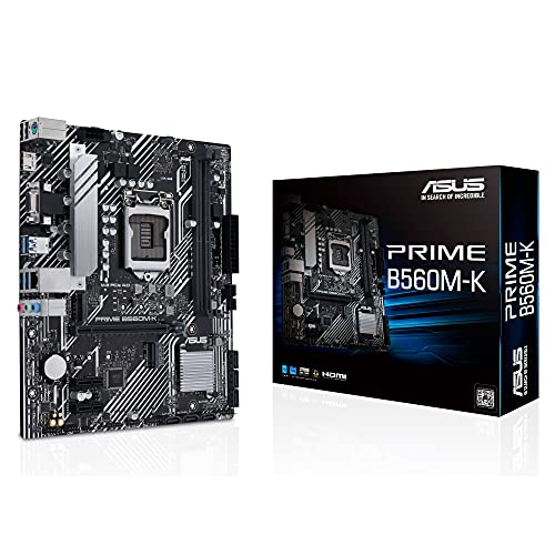 ASUS Prime B560M-K Gaming Mainboard Sockel Intel LGA 1200 (mATX, 2x M.2, Intel 1Gbit/s Ethernet, USB 3.2 Gen 1, PCIe 4.0, RGB-Header)