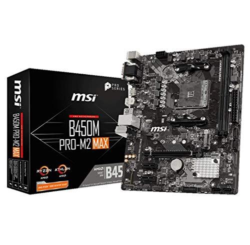 MSI B450M PRO-M2 MAX AMD AM4 DDR4 m.2 USB 3.2 Gen 2 HDMI M-ATX Motherboard
