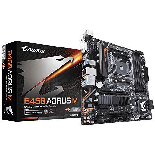 Gigabyte B450Aorus m AM4/B450/DDR4/S-ATA 600/Micro ATX Sockel-Schwarz