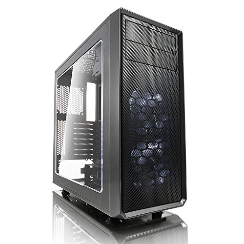 Fractal Design Focus G Grey Window, PC Gehäuse (Midi Tower mit seitlichem Fenster) Case Modding für (High End) Gaming PC, grau