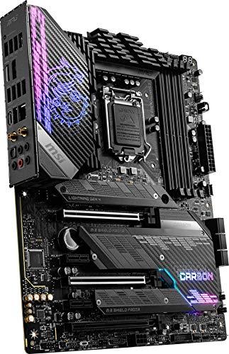 MSI MPG Z590 GAMING CARBON WIFI Mainboard ATX, unterstützt Intel-Prozessoren der 11. Generation, LGA 1200, Mystic Light, 75A VRM, DDR4-Boost (5333 MHz/OC), 2x PCIe 4,0 x16, 3x M.2 Gen4/3 x4, Wi-Fi 6E