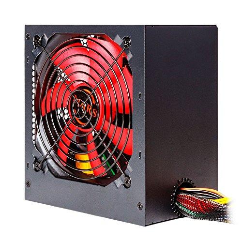 Mars Gaming MPII550 - Netzteil gaming für PC, (550 W, 12 V, Active PFC, ATX, Ventilator 12 cm, Antivibrationssystem Wirkungsgrad + 85%), rot und schwarz