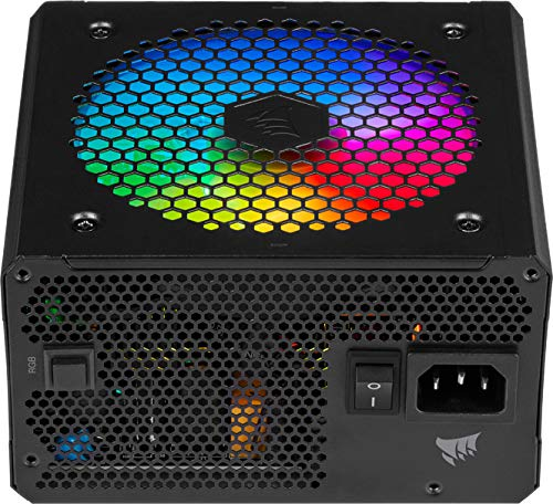 Corsair CX650F RGB, 80 PLUS Bronze Vollständig Modulares ATX-Netzteil (80 PLUS Bronze-Zertifizierte, 120-mm-RGB-Lüfter, Optimiert für Leisen Betrieb, 105 °C Kondensatoren, Kompaktes Gehäuse), Schwarz