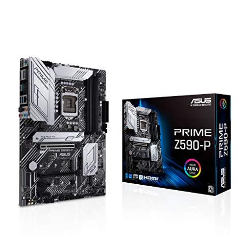 ASUS Prime Z590-P Gaming Mainboard Sockel Intel LGA 1200 (Intel Z590, ATX, PCIe 4.0, 3x M.2, USB 3.2 Gen 2x2, Thunderbolt 4)