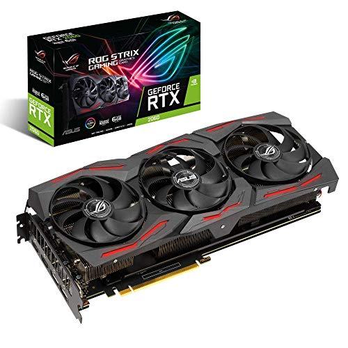 ASUS ROG Strix GeForce RTX 2060 EVO Advanced Edition Gaming Grafikkarte (6GB GDDR6, PCIe 3.0, Raytracing, 0db-Technologie, DirectX 12)