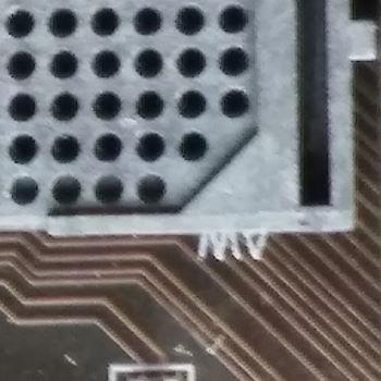Sockel AM4 rechte untere Ecke